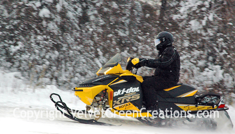 Snowmobiling the UP